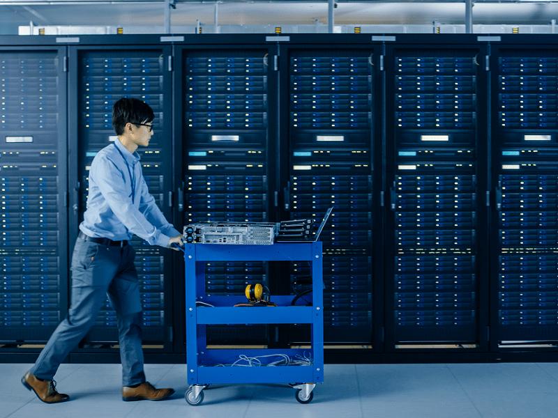 Technician in datacenter